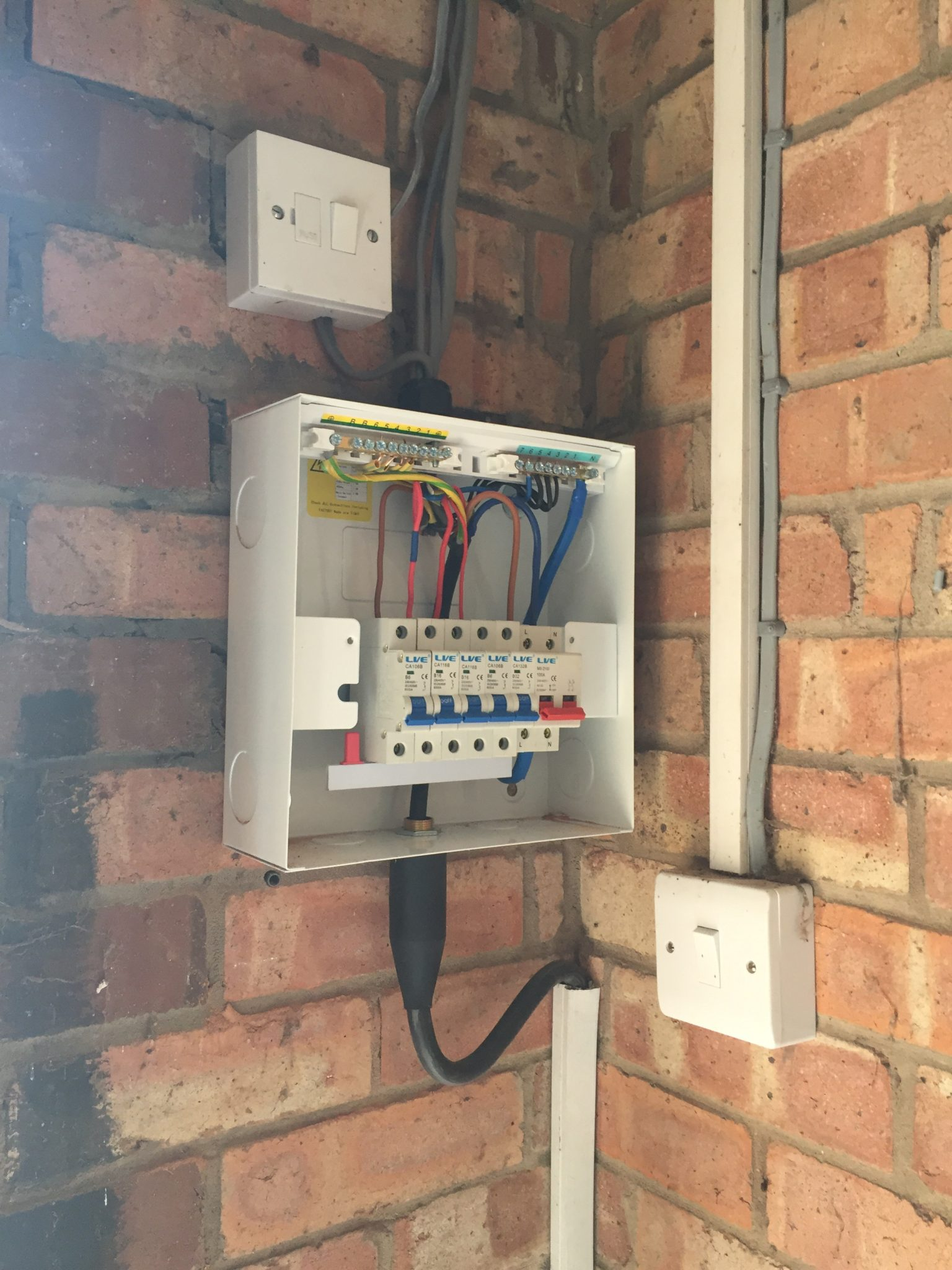 electrical switch wiring diagram updating the garage or shed consumer unit case  amp  young  updating the garage or shed consumer unit case  amp  young