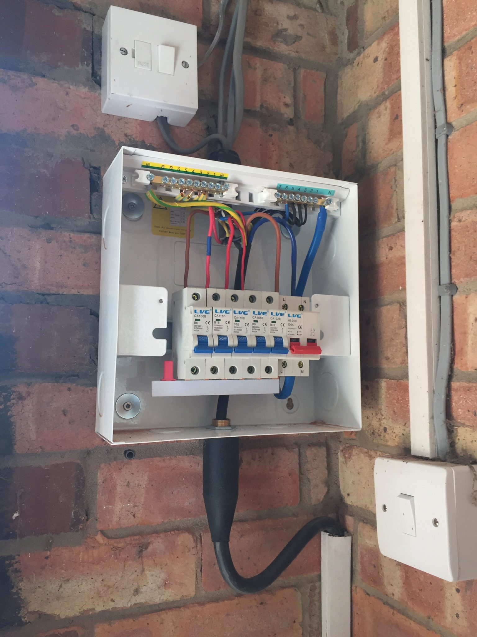 Updating The Garage Or Shed Consumer Unit Case Amp Young